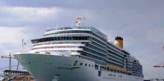 Cruise ship in Malaga