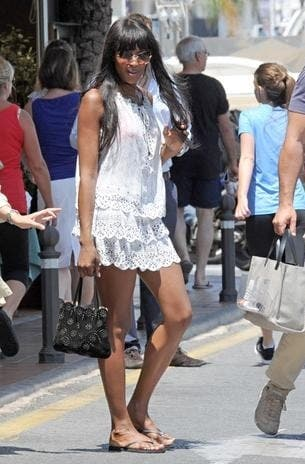 Naomi Campbell hits Puerto Banus after break-up