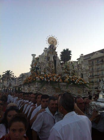 Virgen del Carmen worshipped in the streets of Estepona