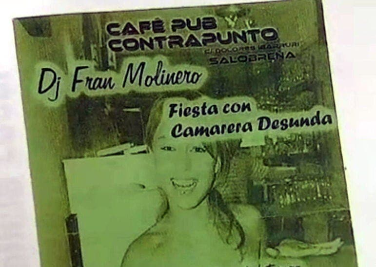 Granada bar offers naked waitress in raffle