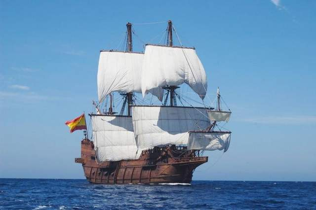America sees arrival of Spanish galleon