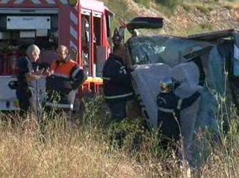 Two dead in Eurolines coach crash