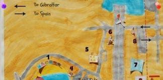 gibraltar border queue map