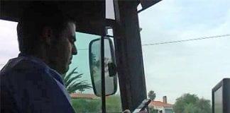costa del sol bus driver on phone