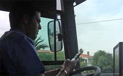 EXCLUSIVE UPDATE: Costa del Sol bus driver caught using mobile phone