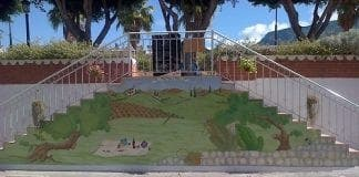 Toad mural