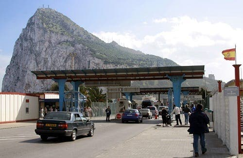 Skirmish at the Gibraltar border