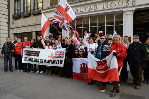 Gibraltarians stand loud and proud in London