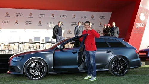 Real Madrid stars in brand new Audi cars