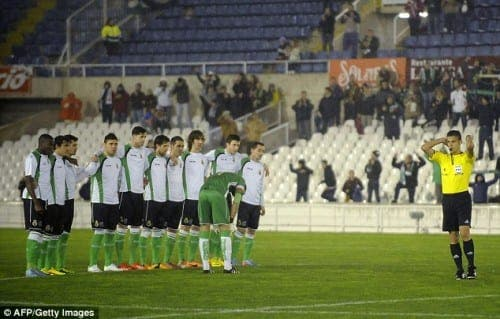 Racing Santander boycott cup match in protest over unpaid wages