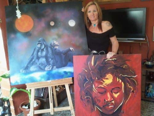 Expat artist enjoys sweet smell of success