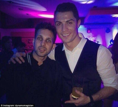 British illusionist Dynamo attends Real Madrid star's birthday party