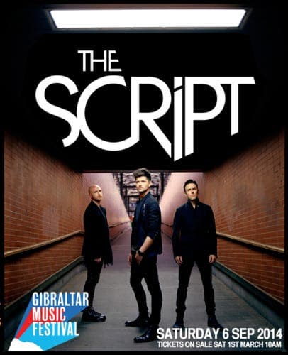 The Script to headline Gibraltar Music Festival