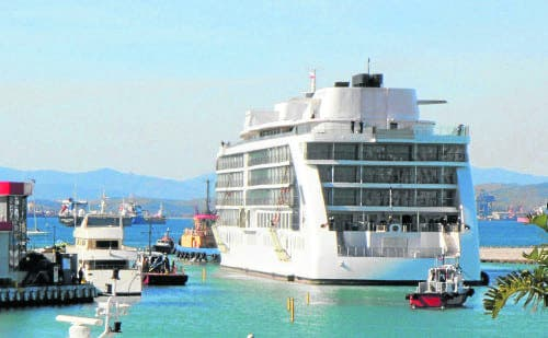 World's first five star floating hotel docks in Gibraltar