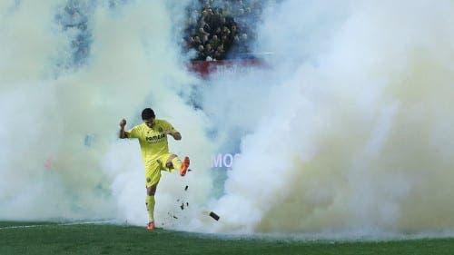 Villarreal football club face hefty fine over smoke bomb