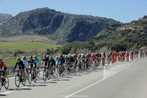 The last stage of the Vuelta a Andalucia in the Serrania de Ronda today