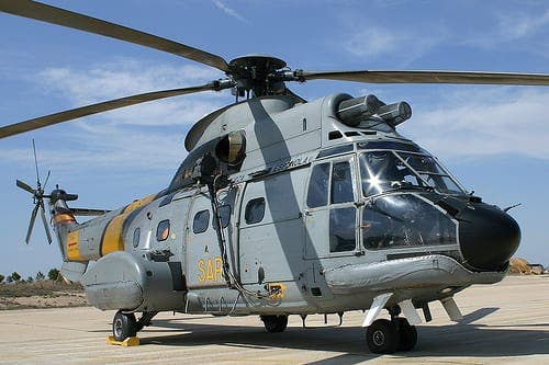 Crew members missing after Spanish military helicopter crash