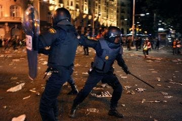 Police phone messages reveal extreme violence at Madrid riots