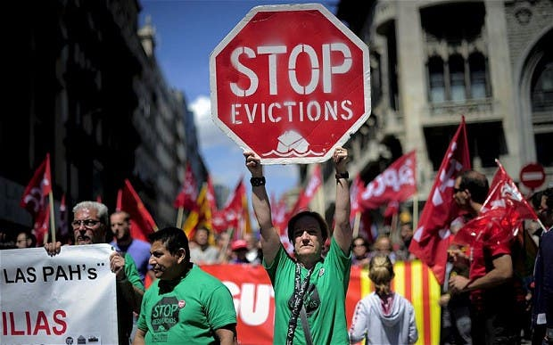 Shocking stats reveal 184 Spaniards a day lost their homes in 2013
