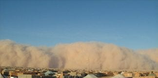 dust storms in the camps