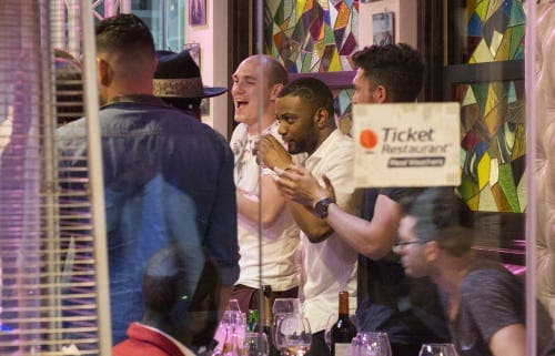 JLS in Marbella: Local photographer's lucky shot… on his phone!