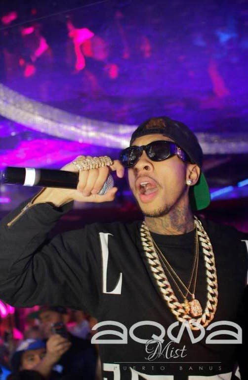 American rap star TYGA takes to stage at Marbella club