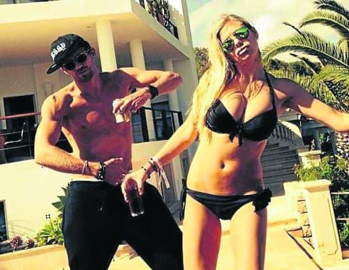Former Royal darling hits  Ibiza