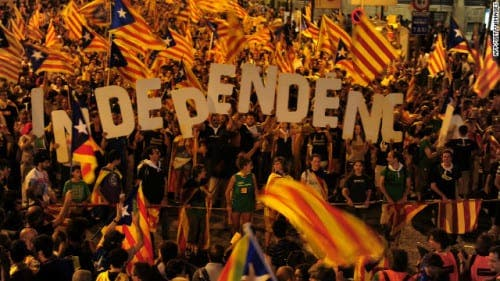 80% vote for independence in Catalunya