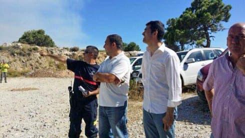 President of the Diputacion de Malaga visits the area