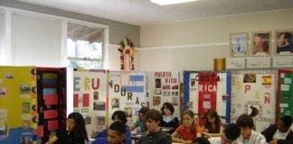 Spanish classroom  e