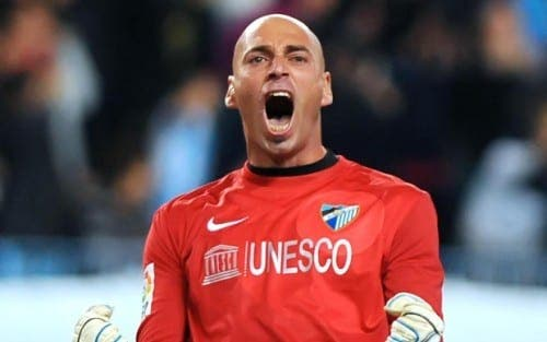 Former Malaga CF goalkeeper Caballero returns to say 'goodbye'