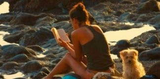 Woman reading at the beach e
