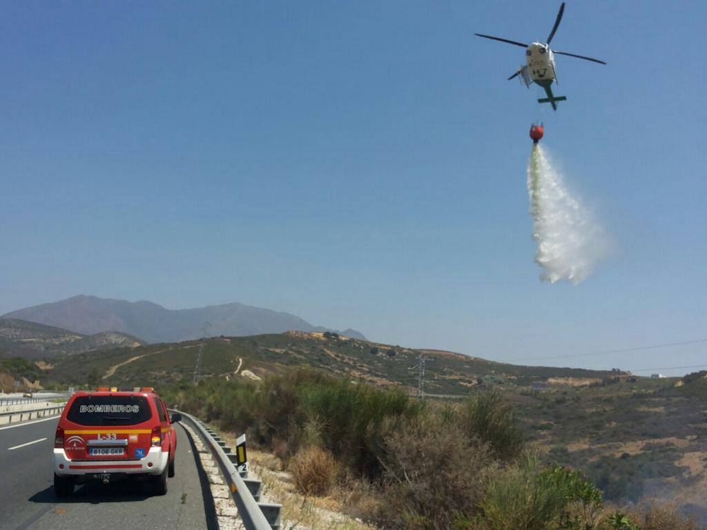PICTURE SPECIAL: Forest fire in Casares