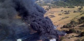 casares recycling plant fire