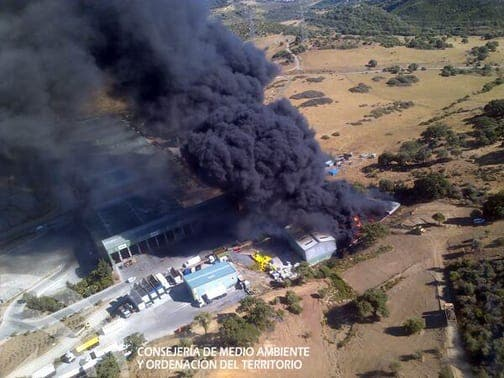 BREAKING: Casares recycling plant blaze