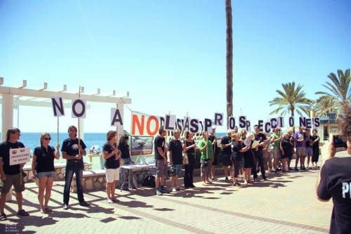 Protest against Repsol gas drilling on the Costa del Sol