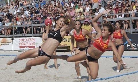 Skimpy bikinis anger Spanish handball players
