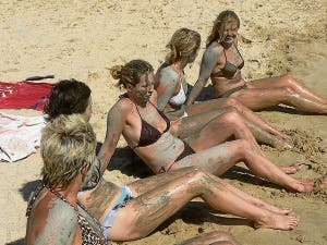 Mud-baking on the Costa de la Luz