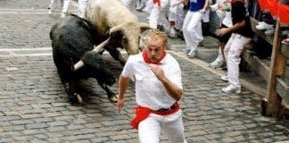 running of the bulls spain pamplona e