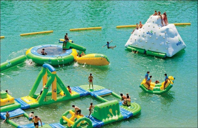 Three new inflatable water parks open in Fuengirola