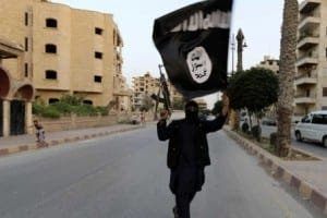 Isis flag waver Mosul (1)