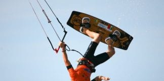 Leander Vyvey is vice wereldkampioen kitesurfen geworden