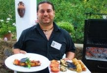 P Diego the Waiter with Tandoori Chicken and Chargrilled Vegetables e