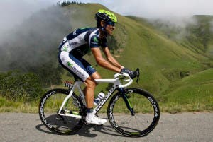 Movistar Team rider Valverde of Spain cycles during the 17th stage of the 99th Tour de France cycling race between Bagneres-de-Luchon and Peyragudes
