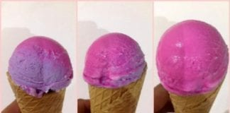 ice cream color changing e