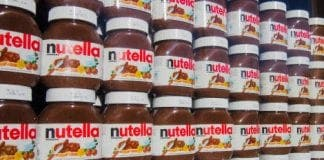 nutella shelf