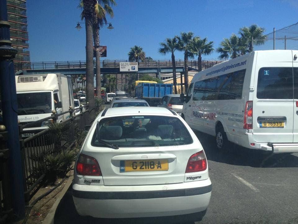 Gibraltar queues 'gridlock' as Frontier works begin