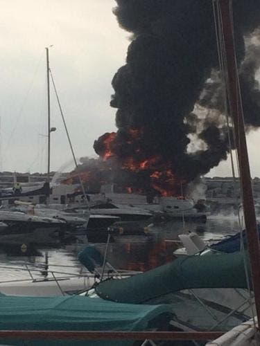 UPDATE: Flaming Puerto Banus yacht belongs to ex-Formula One star