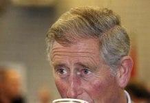 Charles drinking tea