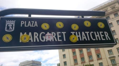Madrid's Margaret Thatcher square vandalised less than 24 hours after being unveiled